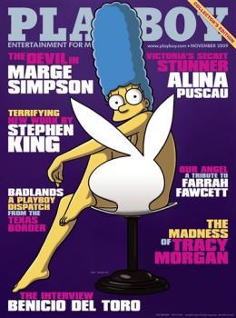 Marge Simpson en la portada de Playboy